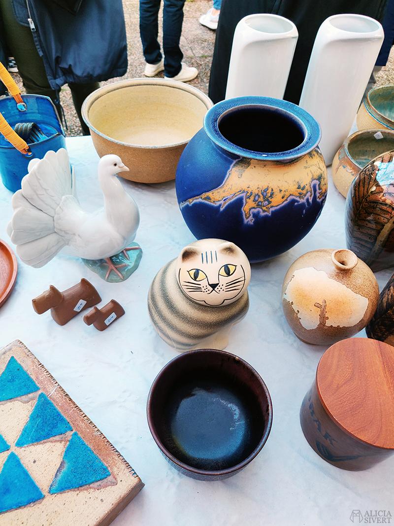 Lisa Larson-katt och keramik. Auktion med Gustavsbergs auktionskammare på Bistro Gustavsberg - www.aliciasivert.se