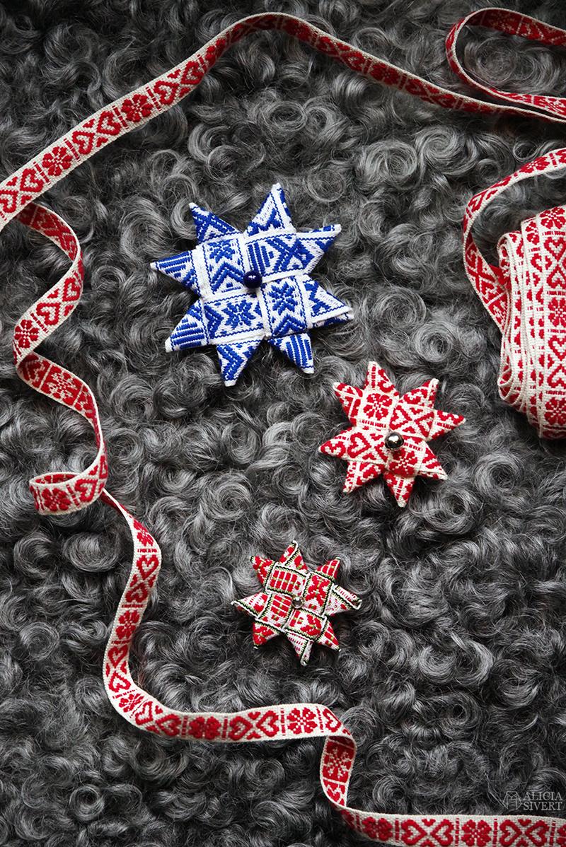 Julbroscher av Alicia Sivertsson, www.aliciasivert.se