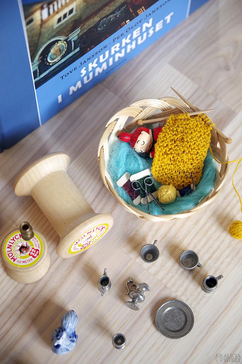 Nä nu bygger jag ett Muminhus - www.aliciasivert.se // muminhuset tove jansson skurken i mumindalen miniatyr miniatyrer modell lilla my i muminmammans syskrin
