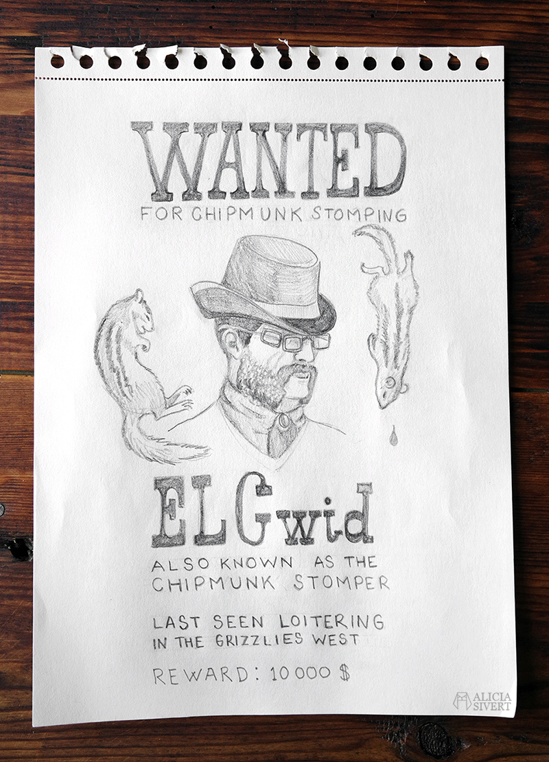 RDR2-teckningar - www.aliciasivert.se // Red Dead Redemption 2 wanted poster drawings