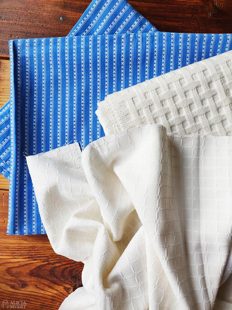 Tyger från mormor - www.aliciasivert.se / återbruk återbrukade återbruka återbrukat tyg begagnat begagnad sömnad sy sytt