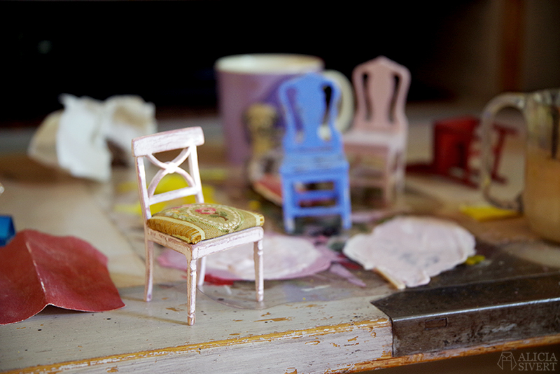 Miniatyrstol byggset av Kotte Toys för Carl Larsson-gården. Den kreativa andra semesterveckan - www.aliciasivert.se