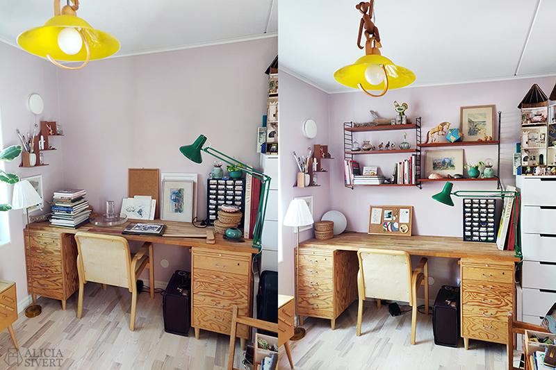 Sätta upp stringhyllor - www.aliciasivert.se