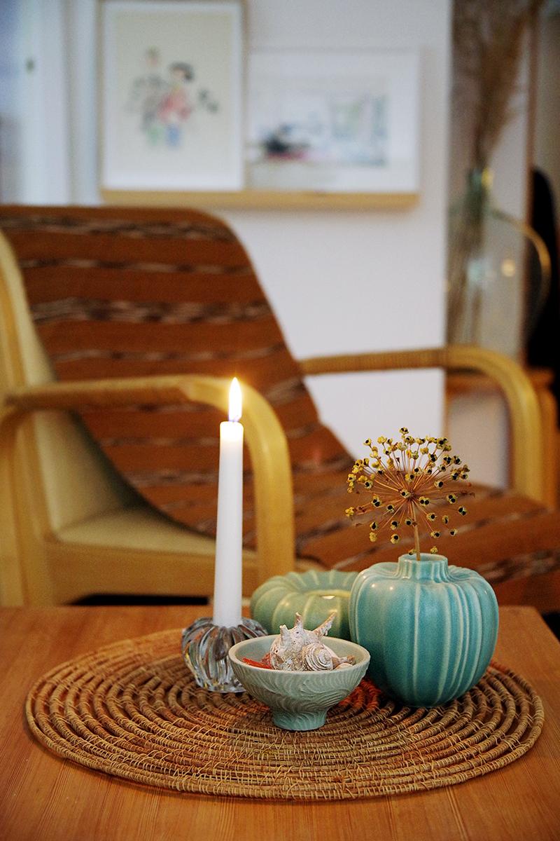 Keramikföremål från Paradisverkstaden, en vas, en ljuslykta och en skål. www.aliciasivert.se - vem är samlare, vad är en samling?