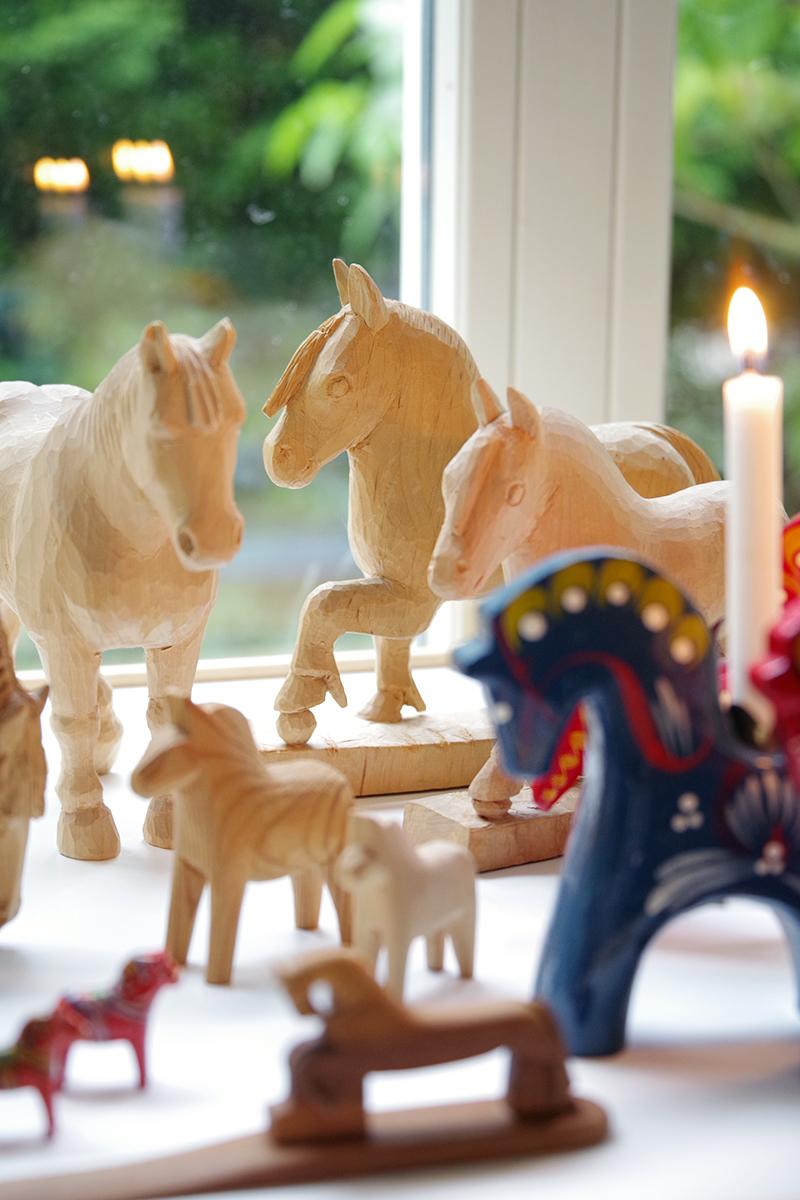 Mina trähästar, samling av hästar i trä