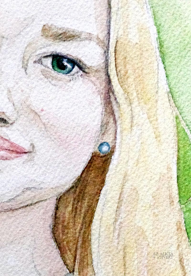 aliciasivert.se aliciasivert alicia sivert sivertsson måla målning målningar målat porträtt akvarell akvarellporträtt vattenfärg watercolor watercolour water color colour konst beställning beställa helena